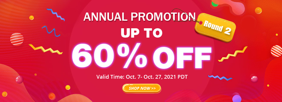Annual Promotion Round 2 Up To 60% OFF